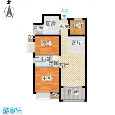 龙光阳光海岸87.00㎡龙光・阳光海岸3#1单元032室户型