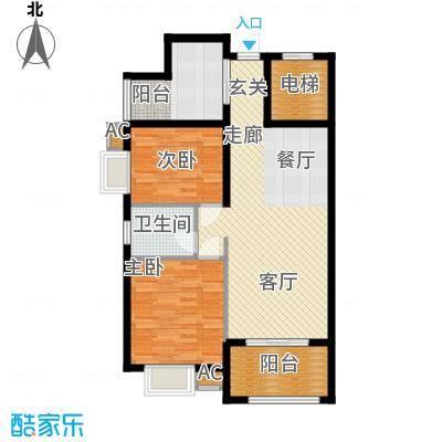 龙光阳光海岸87.00㎡龙光・阳光海岸3#2单元032室户型