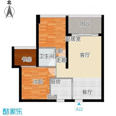 海韵陵河假日81.09㎡海韵・陵河假日二期5户型