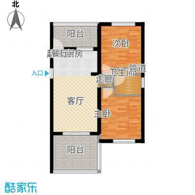 三亚金阳光温泉花园77.81㎡B户型