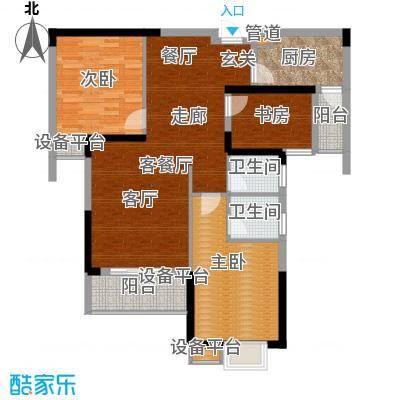 东城国际121.46㎡2号楼D户型