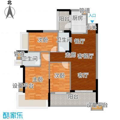 雅居乐海南清水湾110.64㎡蔚蓝高尔夫组团EA1-EA3洋房05号位户型