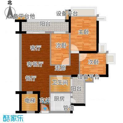 雅居乐海南清水湾101.33㎡蔚蓝高尔夫组团EA2洋房户型