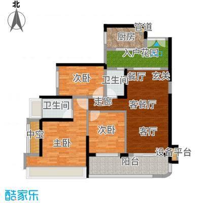 雅居乐海南清水湾105.61㎡蔚蓝高尔夫组团洋房-C户型