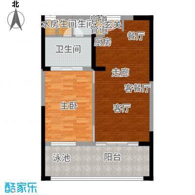 雅居乐海南清水湾94.08㎡SA3栋C户型