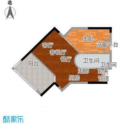 雅居乐海南清水湾97.71㎡翰海银滩洋房SA3-E户型