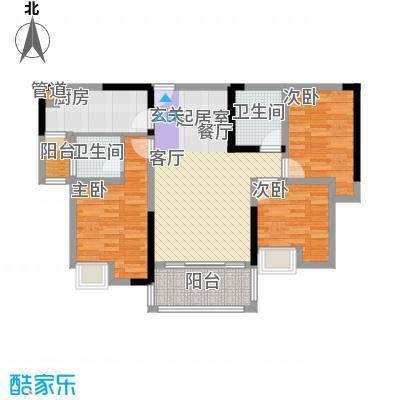 宗颐香山郦居92.61㎡宗颐・香山郦居D4户型