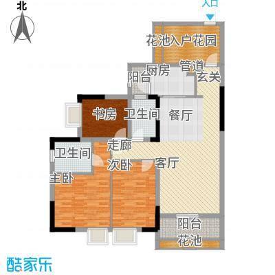招商花园城126.00㎡A户型