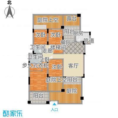 中航城163.32㎡A11楼底复图1户型