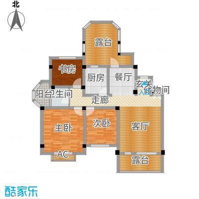联投国际城105.00㎡金福叠台户型