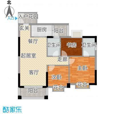 腾龙钻石广场106.22㎡腾龙・钻石广场11号楼A3户型