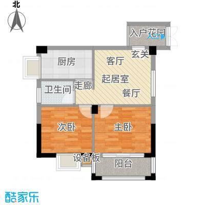 腾龙钻石广场63.87㎡腾龙・钻石广场15号楼E1户型