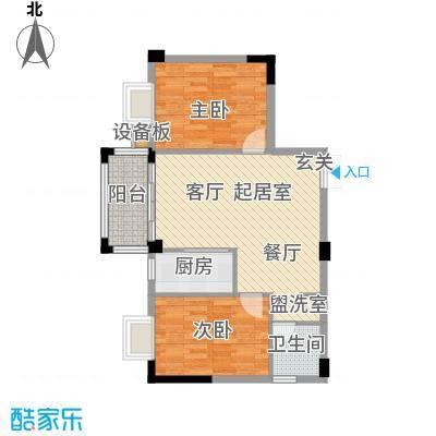 腾龙钻石广场81.79㎡腾龙・钻石广场15号楼E2户型