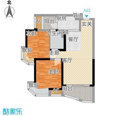 碧桂园太阳城88.00㎡J361-03单位户型