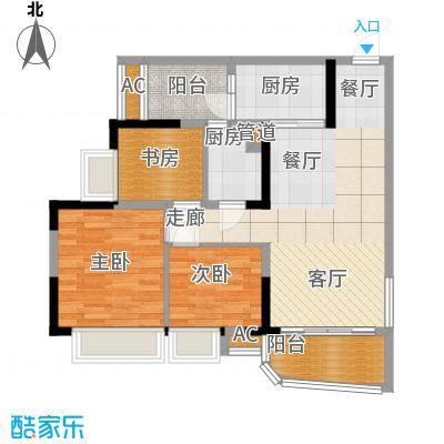 碧桂园太阳城90.00㎡太阳城芙蓉湾J3671标准层户型