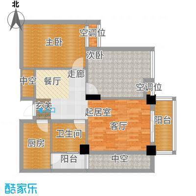 桂林奥林匹克花园95.35㎡领峰阳光3期B2户型