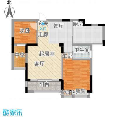 桂林奥林匹克花园83.27㎡1、2、7#C户型