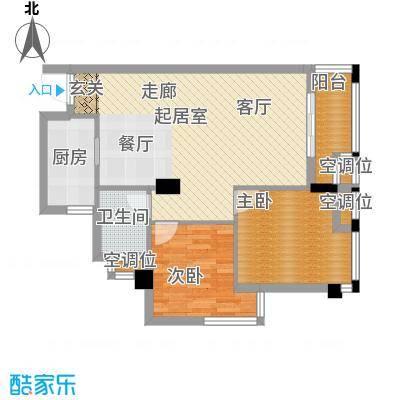 桂林奥林匹克花园86.45㎡领峰阳光3期B4户型