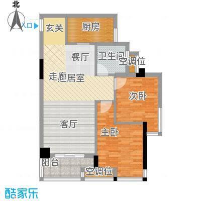 桂林奥林匹克花园89.03㎡领峰阳光3期B3户型