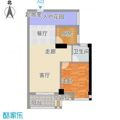 桂林奥林匹克花园82.65㎡领峰阳光3期A2户型