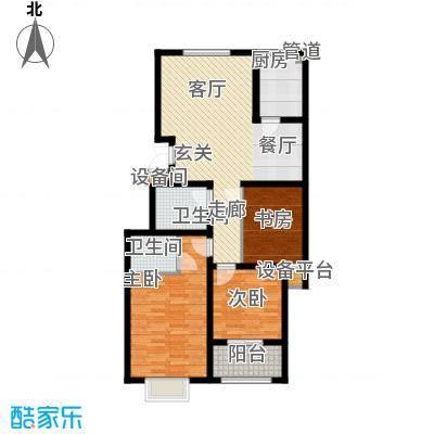 景圣湄河公寓119.70㎡B1户型