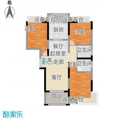 大信桂竹园127.55㎡A户型
