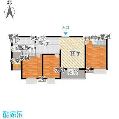优山美地136.70㎡18#户型