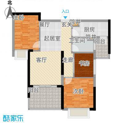 龙光水悦龙湾94.00㎡龙光・水悦龙湾D2户型