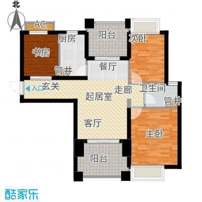 龙光水悦龙湾96.43㎡龙光・水悦龙湾B2户型