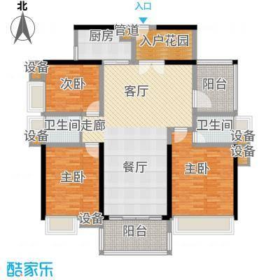 中信凯旋城别墅134.00㎡高层B2栋D-3户型