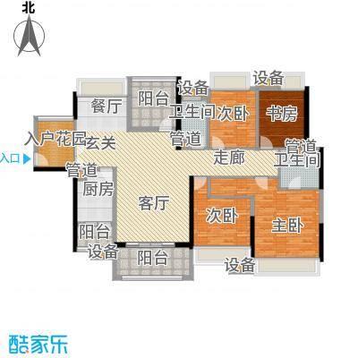 中信凯旋城别墅173.00㎡高层B2栋D-2户型