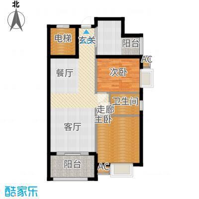 龙光阳光海岸87.00㎡龙光・阳光海岸3#2单元022室户型