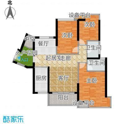 东凤海伦春天118.08㎡4座03单位户型