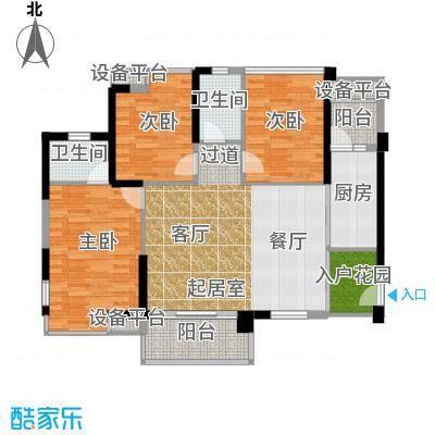 东凤海伦春天112.63㎡3座01户型