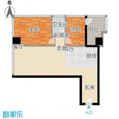 时代中心109.21㎡19―26层D户型