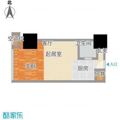 湛江万达广场59.00㎡SOHO-G户型