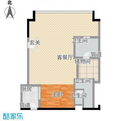 合景汀澜海岸89.54㎡合景・汀澜海岸公寓D户型