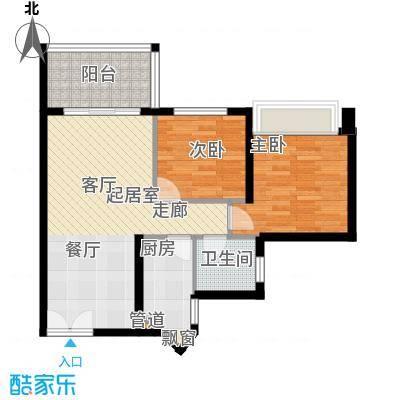 海韵陵河假日76.84㎡海韵・陵河假日2-B户型
