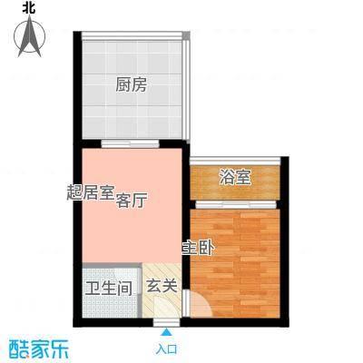 三亚金阳光温泉花园43.07㎡C户型