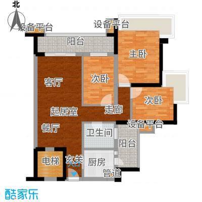 雅居乐海南清水湾101.33㎡蔚蓝高尔夫组团EA1-EA3洋房户型