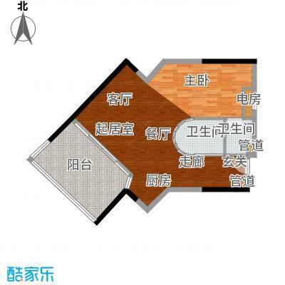 雅居乐海南清水湾97.00㎡瀚海银滩-SA5栋-E户型