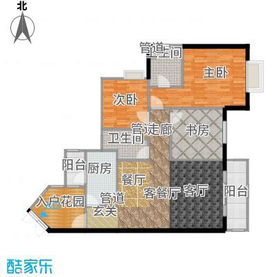 晋愉九龙湾90.26㎡B1(二期)面积9026m户型