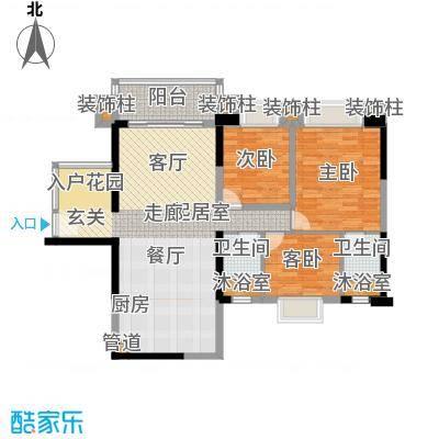 中澳春城106.00㎡13栋01户型