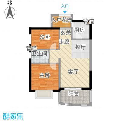 华融琴海湾87.00㎡10、11、13、14、15、16栋A1户型