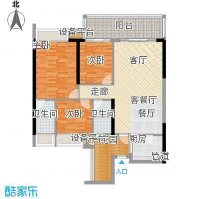 敏捷锦绣明珠112.24㎡敏捷・锦绣明珠14座04户型