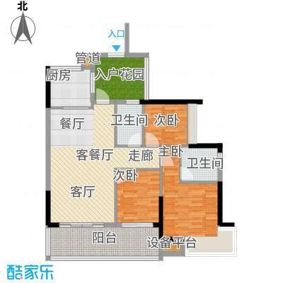 敏捷锦绣明珠96.92㎡敏捷・锦绣明珠14座02户型
