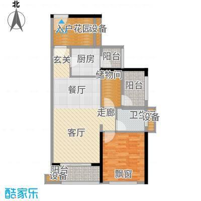 龙光海悦华庭78.68㎡2栋1单元01室户型