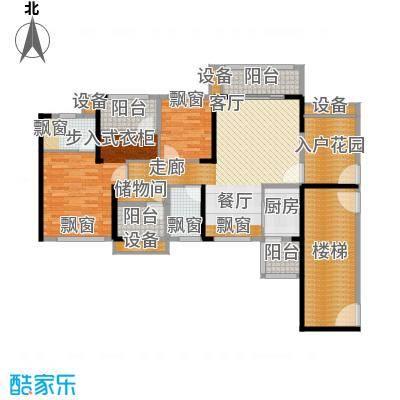 龙光海悦华庭110.81㎡2栋1单元02室户型
