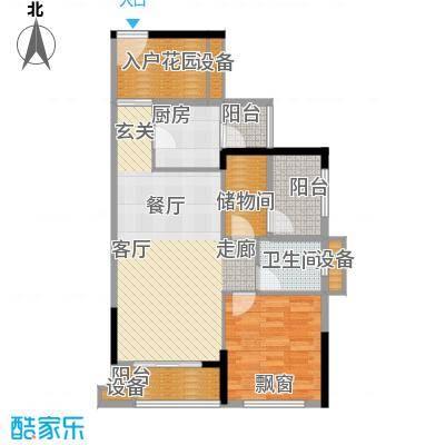 龙光海悦华庭78.24㎡4栋1单元033室户型