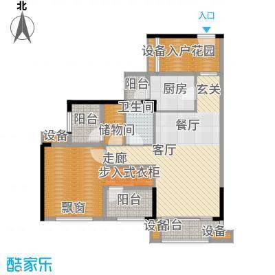 龙光海悦华庭89.00㎡4栋2单元034室户型